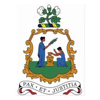 Postal Escudo de armas de San Vicente y las Granadinas