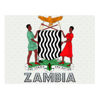 Postal Escudo de armas de Zambia