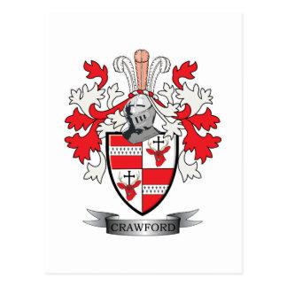 Postal Escudo de armas del escudo de la familia de