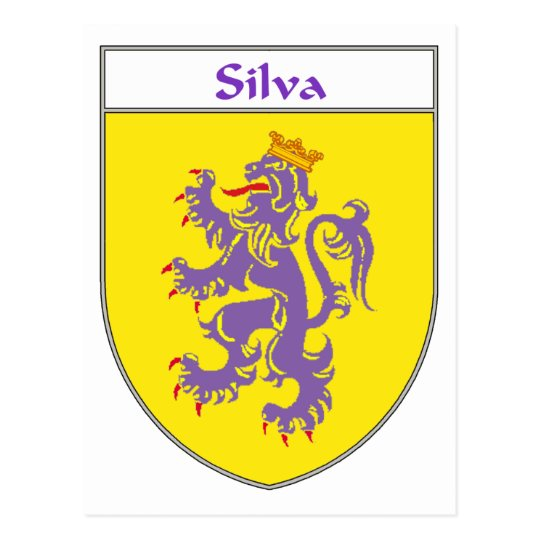 Postal Escudo de armas del Silva/escudo de la familia