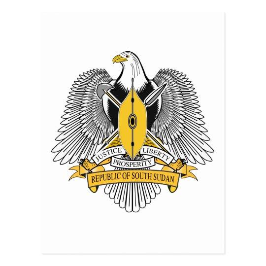 Postal Escudo de armas del sur de Sudán