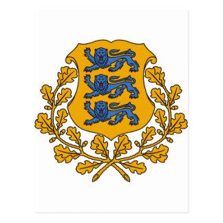 Postal Escudo de armas EE de Estonia