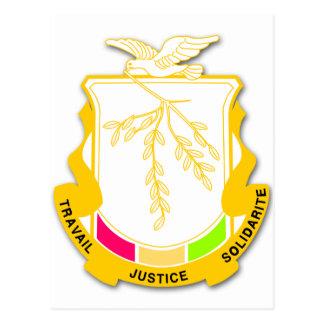Postal Escudo de armas GN de Guinea