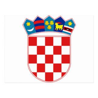 Postal Escudo de armas hora Hrvatska de Croacia