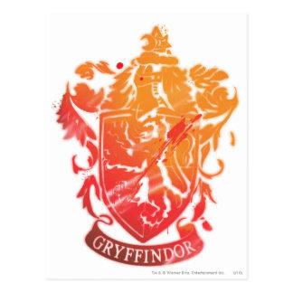 Postal Escudo de Gryffindor - salpicado