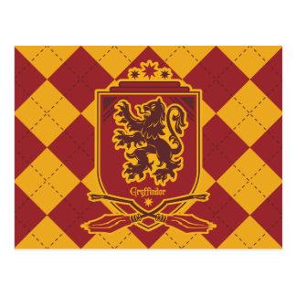 Postal Escudo de Harry Potter el   Gryffindor QUIDDITCH™