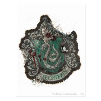 Postal Escudo de Harry Potter el | Slytherin - vintage