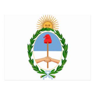 Postal Escudo de la Argentina - escudo de armas de la