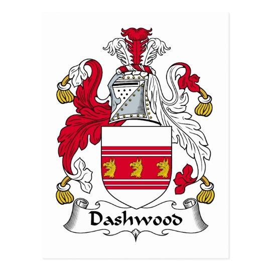 Postal Escudo de la familia de Dashwood