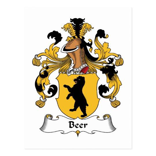 Postal Escudo de la familia de la cerveza