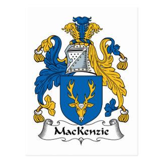 Postal Escudo de la familia de MacKenzie