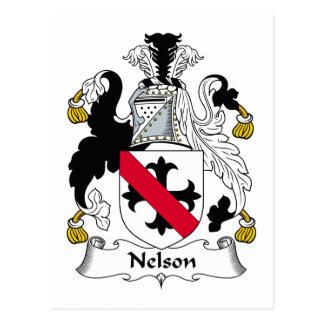 Postal Escudo de la familia de Nelson