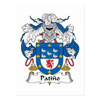 Postal Escudo de la familia de Patino