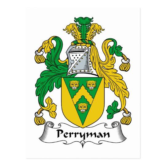 Postal Escudo de la familia de Perryman