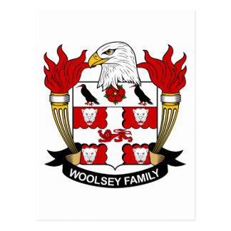 Postal Escudo de la familia de Woolsey