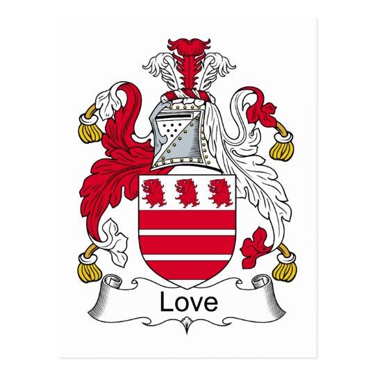 Postal Escudo de la familia del amor