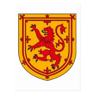 Postal Escudo desenfrenado del león de Escocia