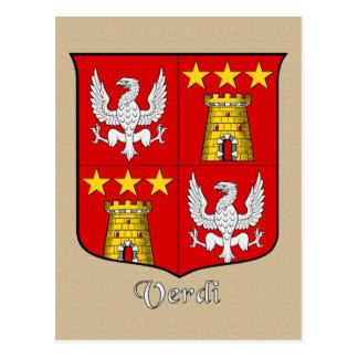 Postal Escudo heráldico de la familia de Verdi