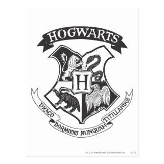 Postal Escudo retro de Harry Potter el | Hogwarts