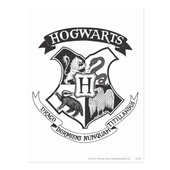 Postal Escudo Retro De Harry Potter El Hogwarts Zazzlees