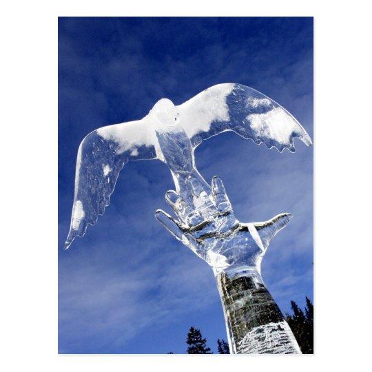 Postal Escultura de hielo en Lake Louise, Alberta, Canadá