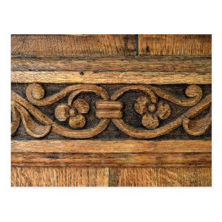 Postal escultura de madera del panel