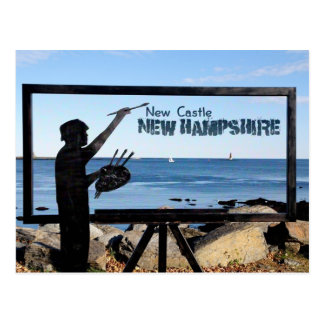 Postal Escultura de New Hampshire, isla del nuevo
