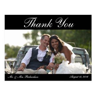 Postal Espacio en blanco - la foto del boda Horiz. B&W