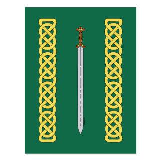 Postal Espada céltica y Knotwork