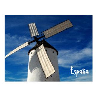 Postal española del molino de viento