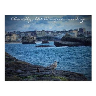 """Postal """"Espera sin fin"""" - Biarritz"""