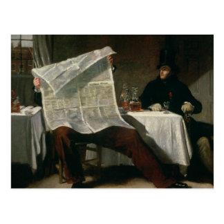 Postal Esperando los tiempos, 1831 (aceite en lona)
