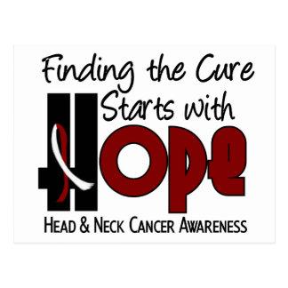 Postal ESPERANZA 4 del cáncer de cabeza y cuello