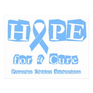 Postal Esperanza de una curación - cáncer de próstata