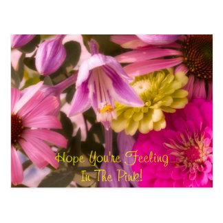 Postal ¡Esperanza usted es FeelingIn el rosa!