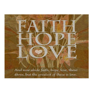 Postal Esperanza y amor de la fe