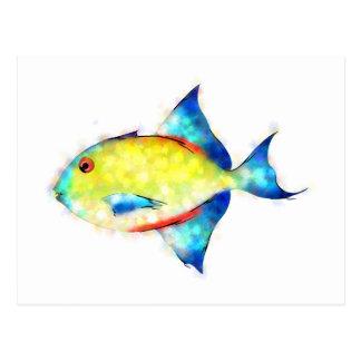 Postal Esperimentoza - pescado magnífico