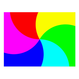 Postal Espiral primario del arco iris
