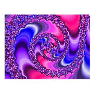 Postal Espiral púrpura