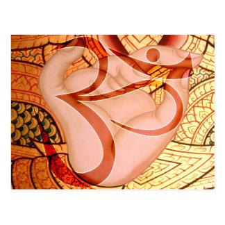 Postal Espiritual inspirado de Buda Mudra OM