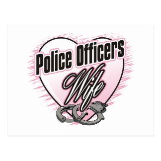 Postal Esposa de los oficiales de policía