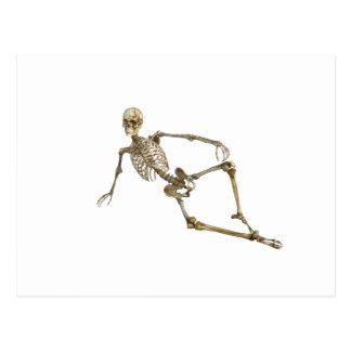Postal Esqueleto de descanso