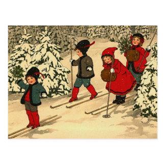 Postal Esquí del invierno