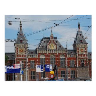 Postal Estación central Amsterdam