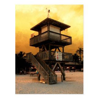 Postal Estación pública del salvavidas de la playa del