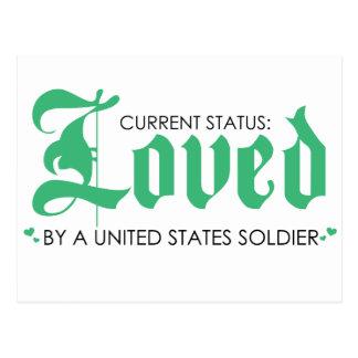 Postal Estado actual: Amado por un soldado de los