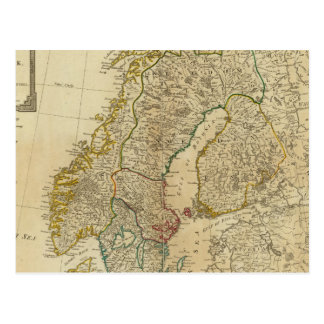 Postal Estados septentrionales Escandinavia