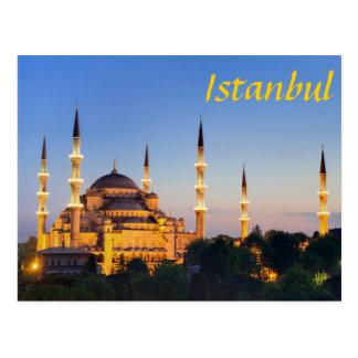 Postal Estambul - Blue Mosque at twilight