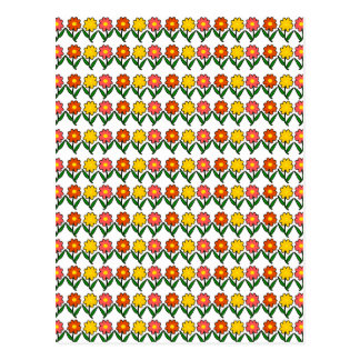 Postal Estampado de flores