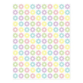 Postal Estampado de flores colorido